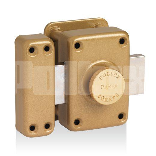 Verrou à bouton gâche huisserie bois type A2P*-0
