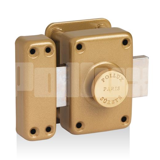 Verrou à bouton gâche huisserie bois type A2P*