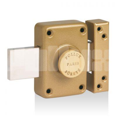 Verrou à bouton gâche huisserie métal-0