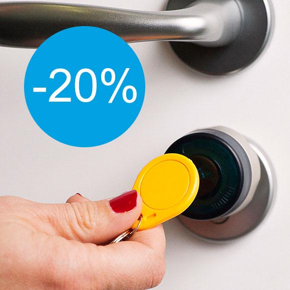 Exclusivité web : -20% sur notre serrure électronique Mastercard
